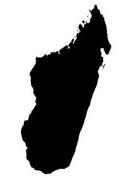 vector map of madagascar