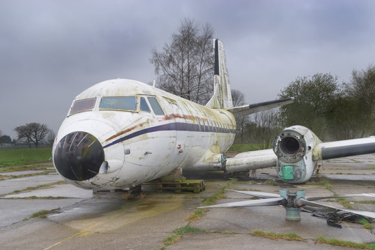 Wrecked old airplane