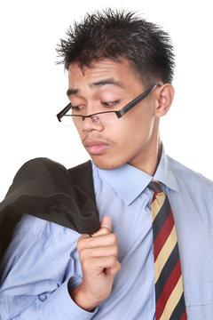 Businessman hindsight portrait