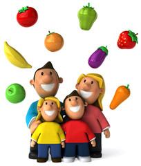Famille et légumes