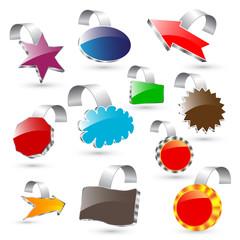 3d vector labels