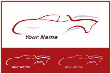Icone Voiture Automobile en Rouge pour Design Logo