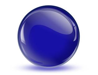 Ball reflection, 3d blue