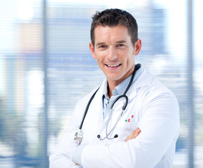 Portrait of a self-assured male doctor