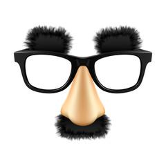 Fototapeta Funny disguise mask. Vector.