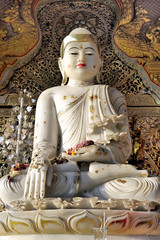 Indian Statue of Buddha,Songthum Temple, Thailand