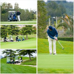 illustration golf et golfeur