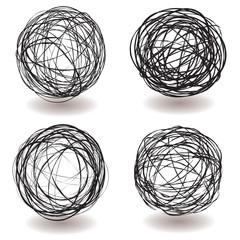 scribble ball icon