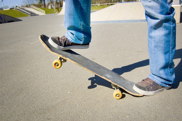 Skateboarder conceptual image.
