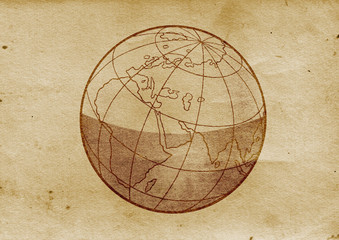 Globe Illustration (from late 1800)