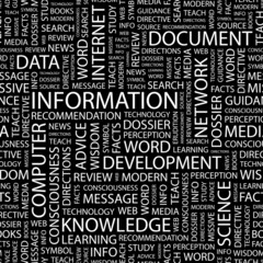 INFORMATION. Seamless vector background.