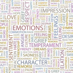 EMOTIONS. Seamless vector background.