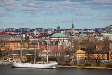Aerial view on Stockholm, Sweden