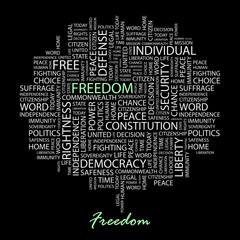 FREEDOM. Wordcloud illustration.