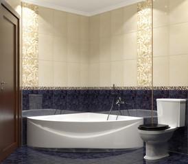 Modern interior of bathroom