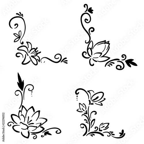 Line Art Flower Corner : Quot flower corner stock image and royalty free vector files