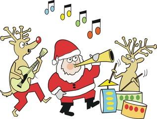 Santa Claus musical cartoon