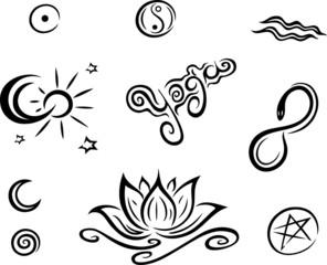 Lotus, Lotusblüte, Wellness, Meditation, Yoga, Set
