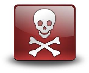 """3D Effect Icon """"Danger / Skull"""""""
