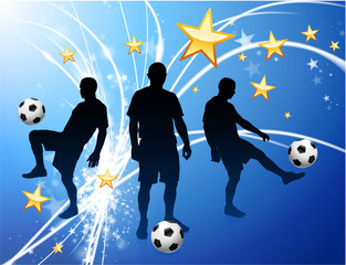 Soccer Player on Abstract Modern Light Background