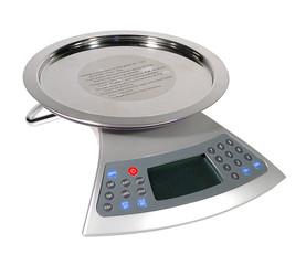 Chrome Electronic Silver Kitchen Scale