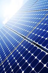Solaranlage im Sonnenlicht