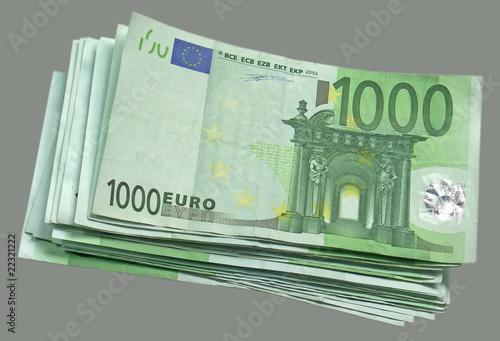 liasse billets mille euros fond gris photo libre de droits sur la banque d 39 images. Black Bedroom Furniture Sets. Home Design Ideas