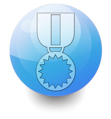 "Shiny Orb Button ""Award Medal"""