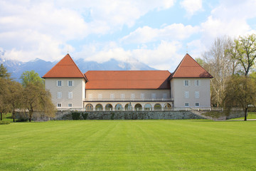 Beautiful spring view of  castle in Brdo, Slovenia