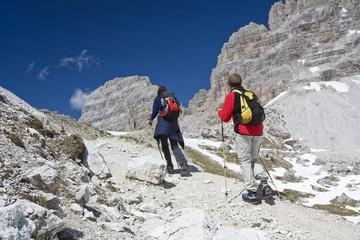 Wandern in den Dolomiten in Süd Tirol