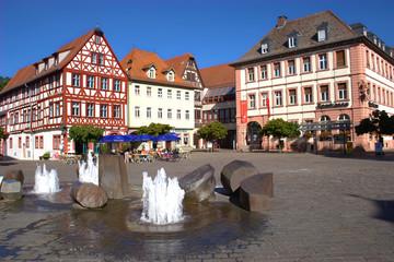 Der Marktplatz in Karlstadt am Main