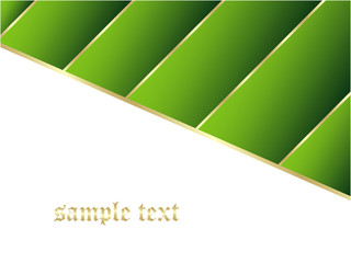 Green business background with gold stripe