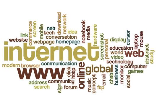 Internet - Word Cloud