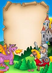 Spoed Foto op Canvas Ridders Fairy tale parchment 1