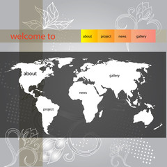 website template for summer design