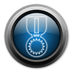 """Dark and Glowing Button """"Award Medal"""""""