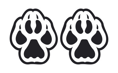 Animal footprints and track vector