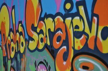 Graffiti Praha Sarajevo
