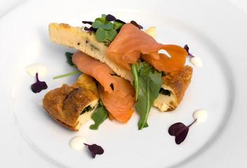 Basil Frittata & Smoked Salmon