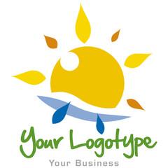 logo 016 - soleil, vacances, mer