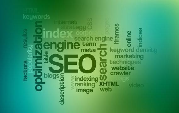 SEO Search Engine Optimization - Word Cloud