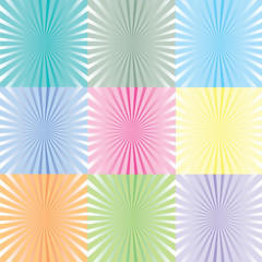 Sunburst in pastel tones