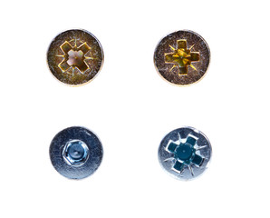 Four various screws and bolts