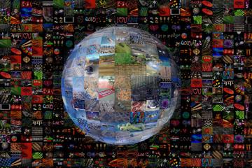 Planète Terre, mosaïque d'images