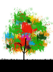 Picture of tree with colorful leaves