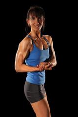 Female Bodybuilder Flaexing