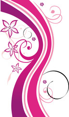 Blumen, Blüten, Ranke, flowers, floral, filigran, rot, pink