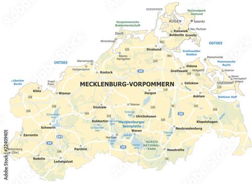 Mecklenburgische Seenplatte Karte Pdf.Landkarte Mecklenburg Vorpommern Ostseekuste Stockfotos
