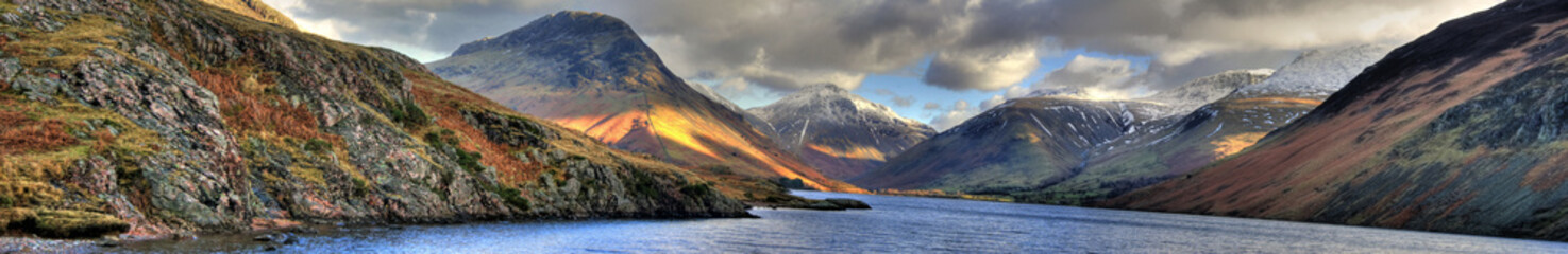 Poster Lake Lake District / Cumbria - Wast Water (Panorama)
