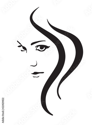 Young Woman Vector Face Fashion Symbol Stock Image And Royalty